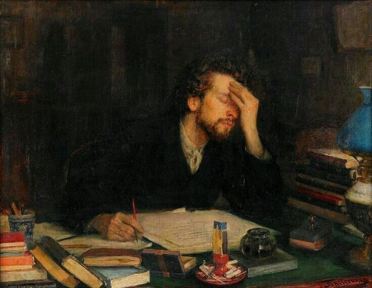 Leonid Pasternak's Throes of Creation