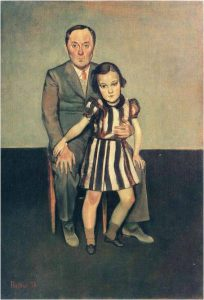Balthus (Balthasar Klossowski de Rola), Joan Miró and His Daughter Dolores, October 1937-January 1938