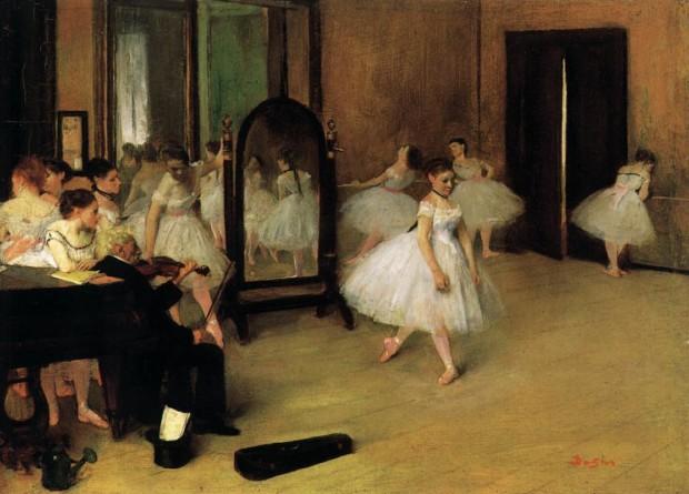 Edgar Degas, Dancing Class, c. 1870, Metropolitan Museum of Art