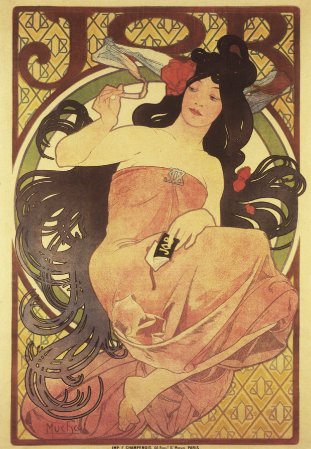 1897c Poster for 'Job' cigarette papers lithograph 152 x 102 cm