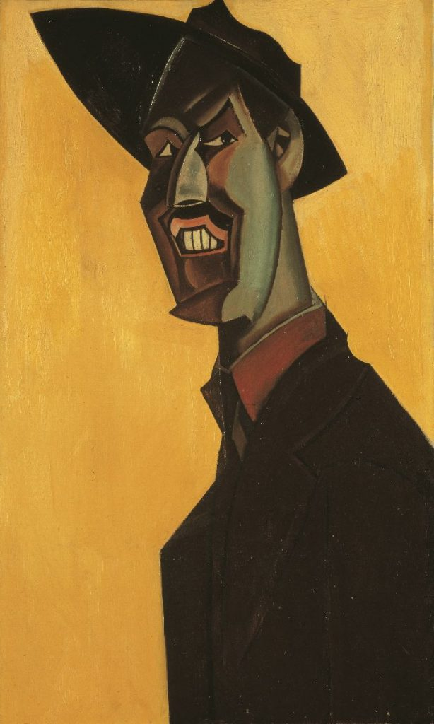 Mr Wyndham Lewis as a Tyro, a self-portrait, 1921, National Portrait Gallery
