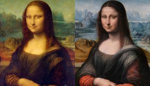 Mona Lisas - two sisters together