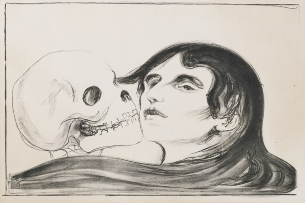 Edvard Munch, Kiss of Death, 1899, private collection