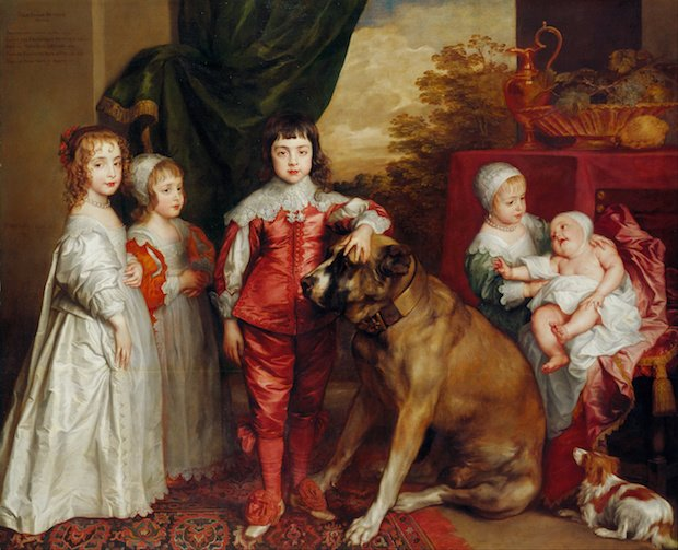 Anthony van Dyck, The five eldest Children of Charles I of England with two dogs, 1637