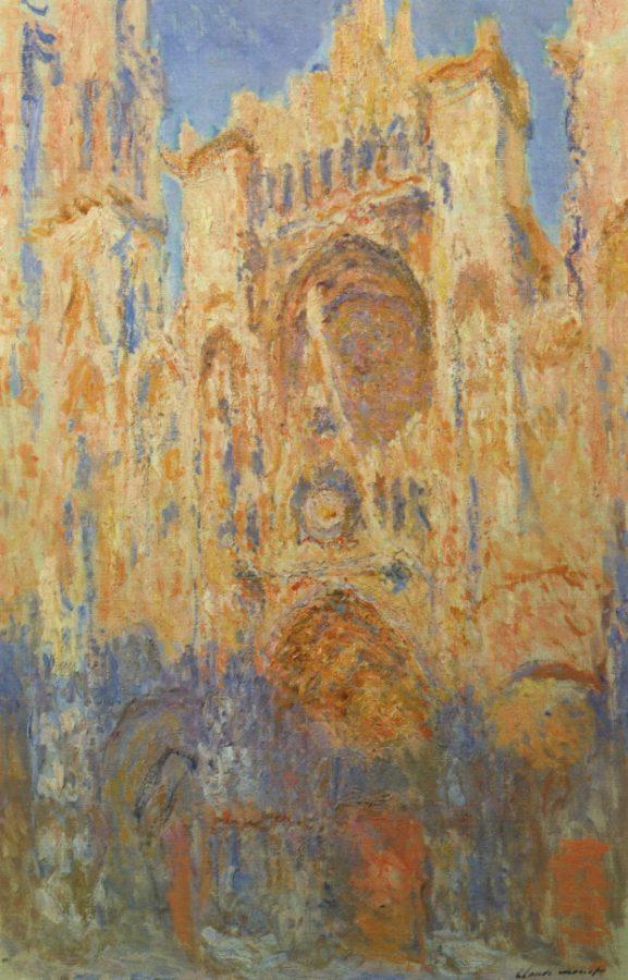 Rouen Cathedral, Facade (sunset), 1892-1894. Musée Marmottan Monet, lichtenstein's art