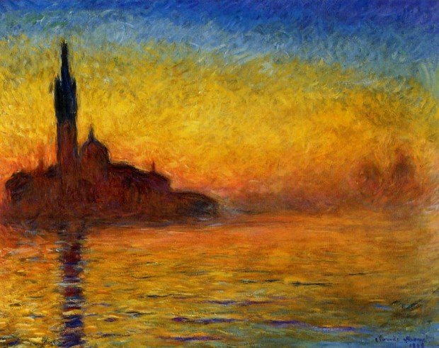 Claude Monet, San Giorgio Maggiore at Dusk, 1908–1912, National Museum Cardiff of Cardiff, Wales