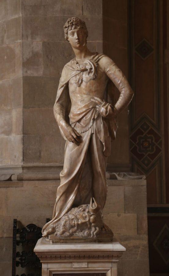 Donatello, The marble David (1408–1409), Museo Nazionale del Bargello, Florence