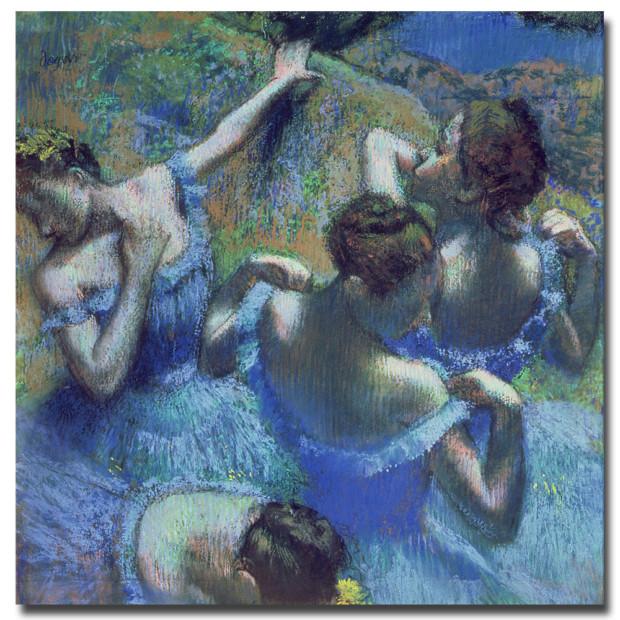 Edgar Degas, Blue Dancers, 1899, Pushkin Museum