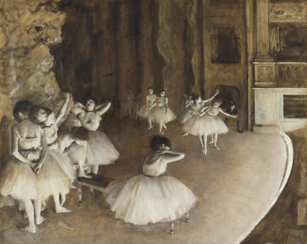 Edgar Degas, Rehearsal of a Ballet on Stage, 1874, Musée d'Orsay, Paris