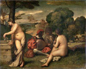 Giorgione or Titian, Pastoral Concert, c. 1508-1510, Musée du Louvre, Paris