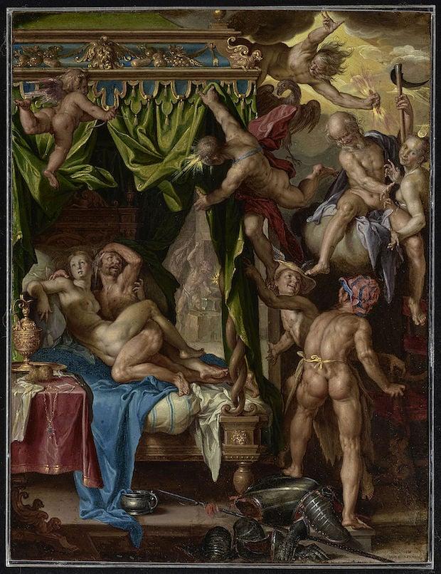 Joachim Anthonisz Wtewael, Mars and Venus Surprised by Vulcan, 1604 - 1608