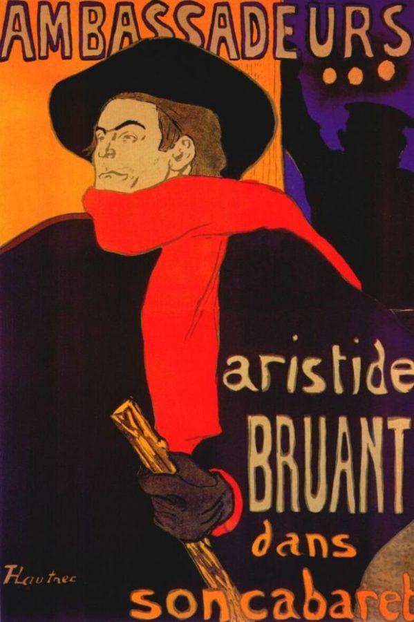 Henri de Tolouse-Lautrec, Ambassadeurs, Aristide Bruant, 1892, Victoria and Albert Museum