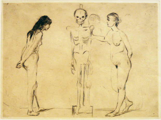 Edvard Munch, The Woman and the Skeleton, 1896, private collection