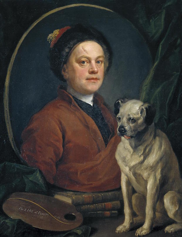 William Hogarth, The Painter and his Pug, 1745, Tate Gallery, London