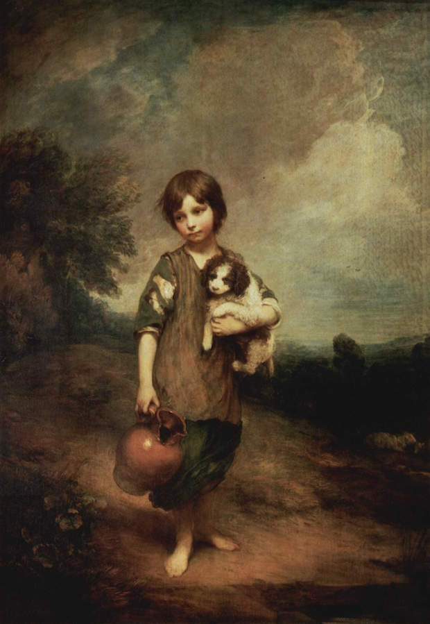 Thomas Gainsborough, Cottage Girl with Dog and Pitcher,
