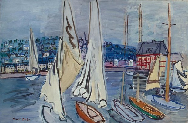 Raoul Dufy. Sailing-Boats in Troville, 1936