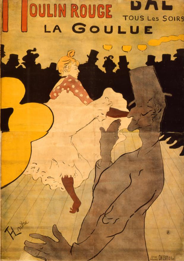 Henri de Tolouse-Lautrec, Moulin Rouge, La Guolue, 1891, MoMA, New York