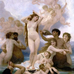 """""""Birth of Venus"""" by William Bouguereau is shown in this undated photo released to the press on June 11, 2010. The 1879 work is on view through Sept. 6 in ``Birth of Impressionism'' at the de Young Museum in San Francisco. Source: de Young Museum via Bloomberg EDITOR'S NOTE: NO SALES. EDITORIAL USE ONLY."""