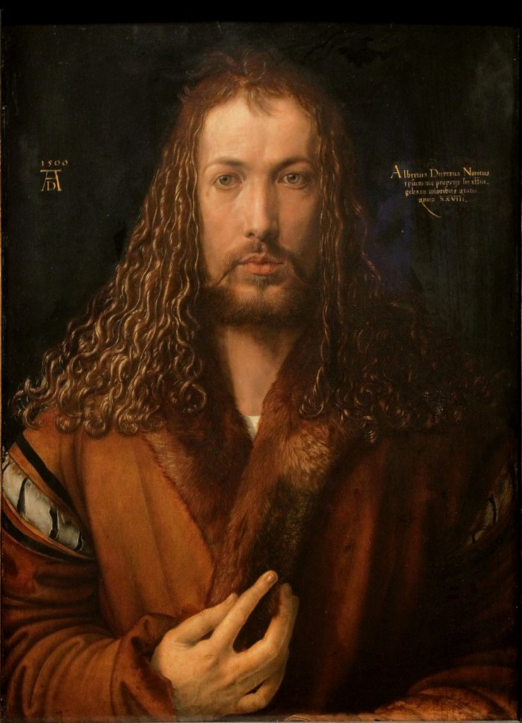 Albrecht Dürer, Self-Portrait at 28, 1500, Alte Pinakothek