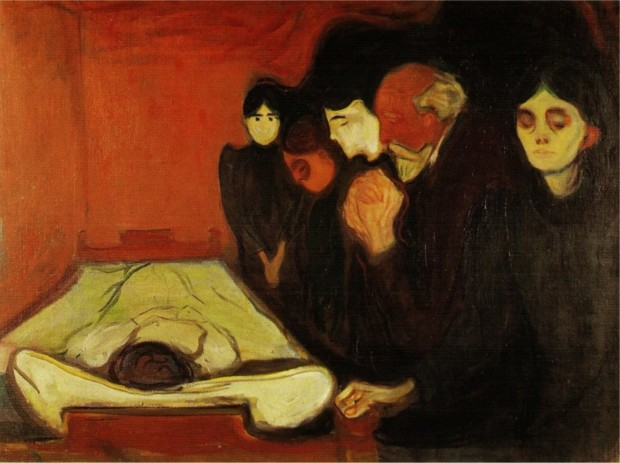 Edvard Munch, By the Death bed (Fever), 1896, Munch Museum, Oslo