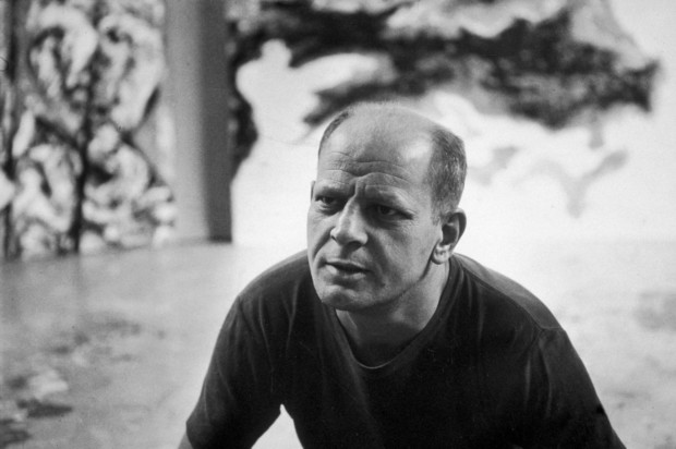 1953: Portrait of Jackson Pollock at his studio in East Hampton, New York. (Photo CREDIT ----Tony Vaccaro/Hulton Archive/Getty Images)