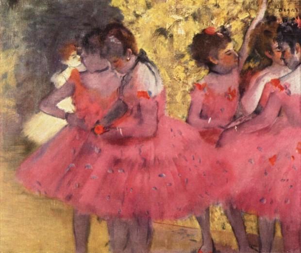 Edgar Degas, The Pink Dancers, Before the Ballet, 1884, Ny Carlsberg Glyptotek, Copenhagen