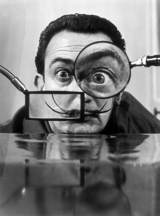 Salvador Dali with Magnifiers, 1950