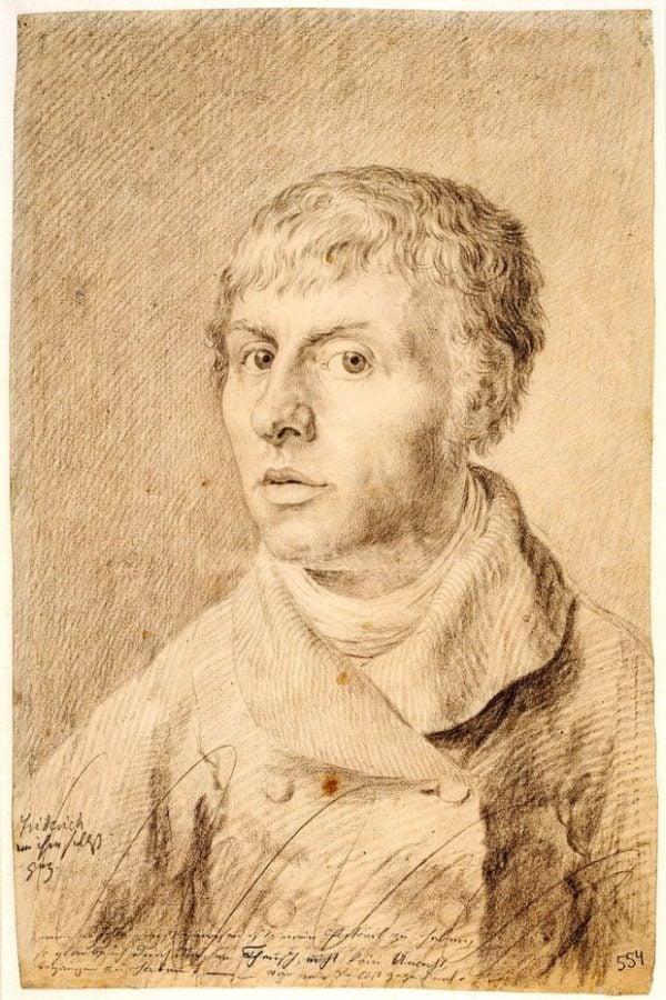 Caspar David Friedrich, Self-portrait as a young man, 1800, Statens Museum for Kunst