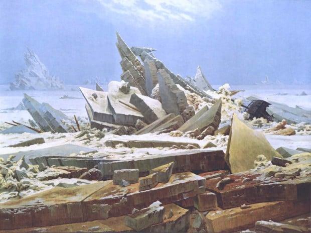 Caspar David Friedrich, The Sea of Ice, 1823–24, Kunsthalle Hamburg
