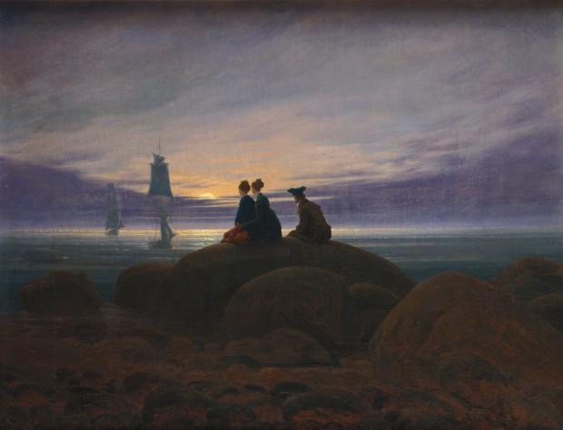 Caspar David Friedrich, Moonrise Over the Sea, 1822, Alte Nationalgalerie, Berlin