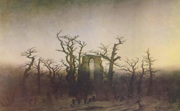 Caspar David Friedrich, The Abbey in the Oakwood, 1809-10, Alte Nationalgalerie, Berlin