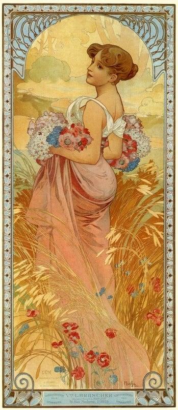 Alfons Mucha, L'Été, 1900, private collection