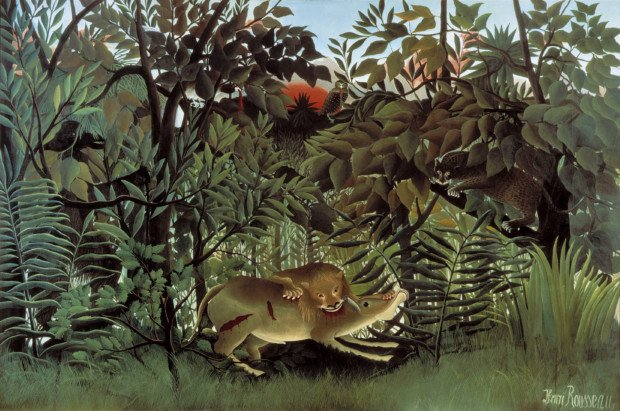 Henri Rousseau, The Hungry Lion Throws Itself on the Antelope, exhibited 1905, Fondation Beyeler, Basel,