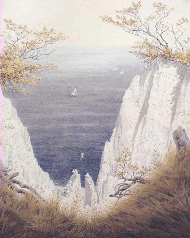 Caspar David Friedrich, Chalk Cliffs on Ruegen, 1825-6, watercolor, Museum der bildenden Künste, Leipzig