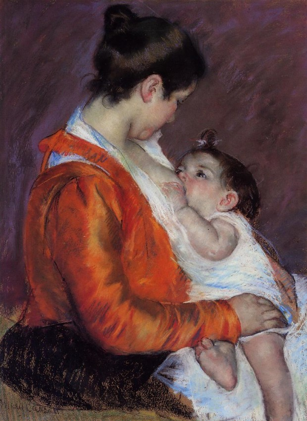 Mary Cassatt, Louise Nursing Her Child, 1898, Fondation Rau pour le Tiers Monde