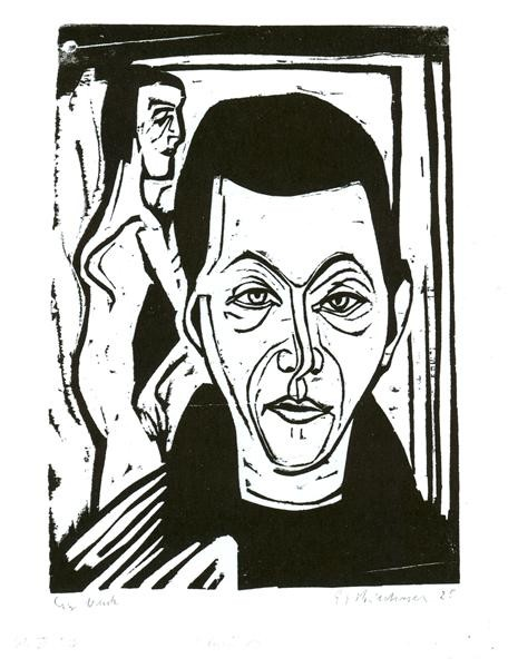 Ernst Ludwig Kirchner, Man's Head. Self-Portrait, 1926
