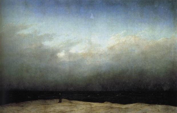 Caspar David Friedrich, Monk by the Sea, 1808–1810, Alte Nationalgalerie, Berlin