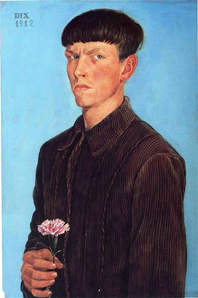 Otto Dix, Self-portrait, 1912, Detroit Institute of Arts, Detroit, MI