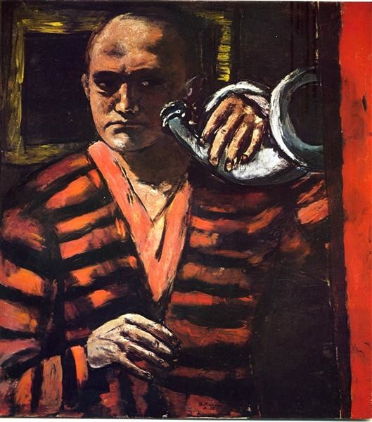 Max Beckmann, Self-Portrait With Trumpet, 1938, Private collection