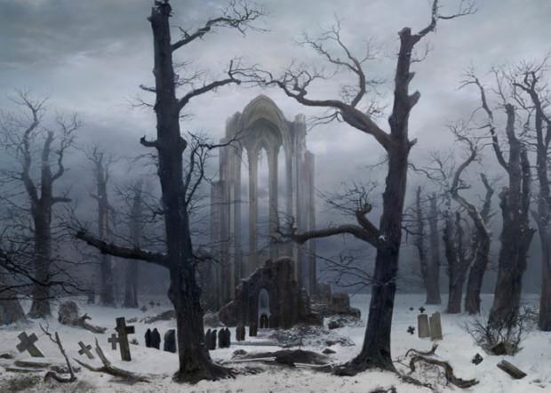 Caspar David Friedrich, Monastery Graveyard, 1918, destroyed