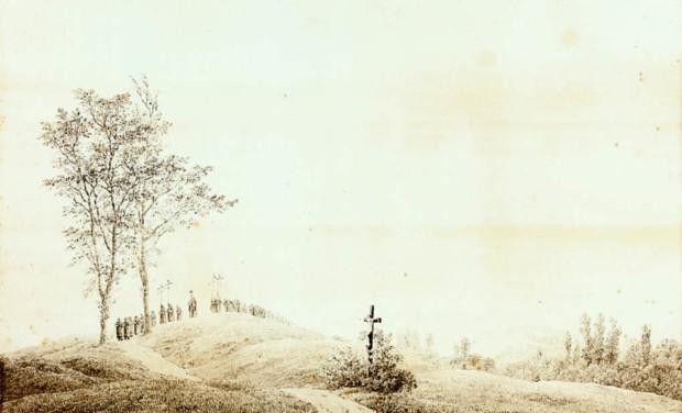 Caspar David Friedrich, Procession at Dawn, 1805, Schlossmuseum Kunstsammlungen, Weimar