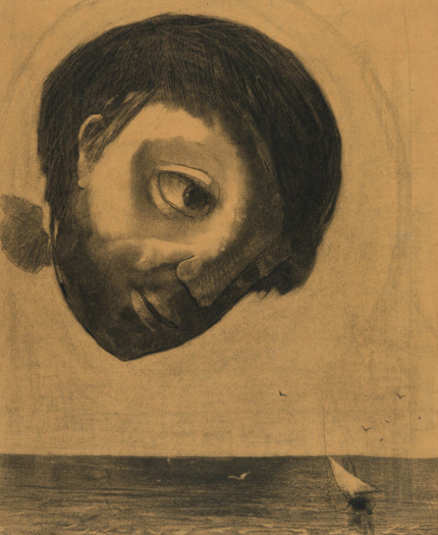 """2314Odilon Redon, Guardian Spirit of the Waters"""", 1878, Art Institute of Chicago45_3615738"""