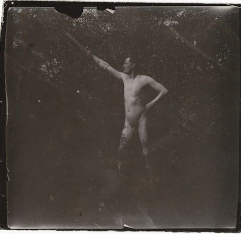 Edvard Munch, Self-Portrait Naked in the Garden at Asgardstrand, 1903
