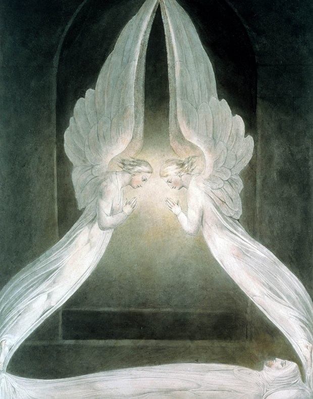 William Blake, The Angels Hovering Over the Body of Christ in the Sepulchre, c. 1805