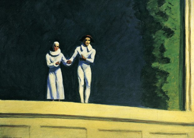 Edward Hopper, Two Comedians, 1965, private collection