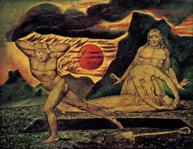 Cain Fleeing Abel William Blake, 1826