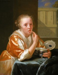 Godfried Schalcken Young Girl Eating Sweets, 1680–8