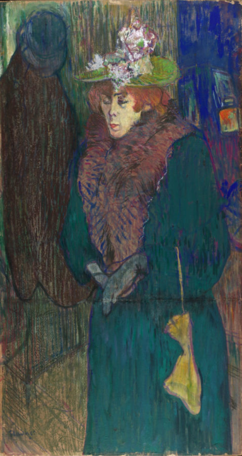Henri de Toulouse-Lautrec, Jane Avril in the Entrance to the Moulin Rouge, putting on her Gloves, 1892 (circa), The Courtauld Gallery, London