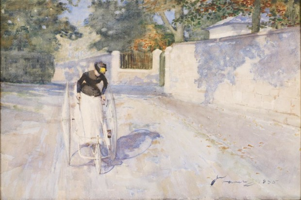 Sir John Lavary, Lady on a Safety Tricycle, 1885, London, Government Art Collection