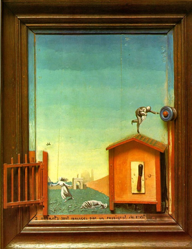 Max Ernst, Two Children are Threatened by a Nightingale, 1924, MoMA